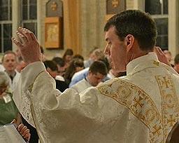 Fr David at altar table