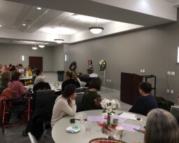 Women's Night, November 2018: Socializing and Making Bows